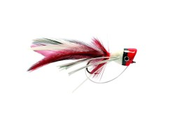 Bass popper frog red/white
