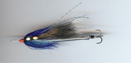 Squirrel Blue & Silver Snake lure