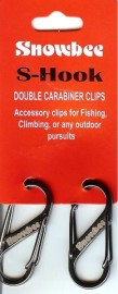 Snowbee S-Hook Double Carabiner Clips