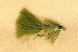 South America Series Golden Nugget Wooly Bugger Olive Green