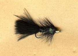 South America Series Golden Nugget Wooly Bugger Black & Green