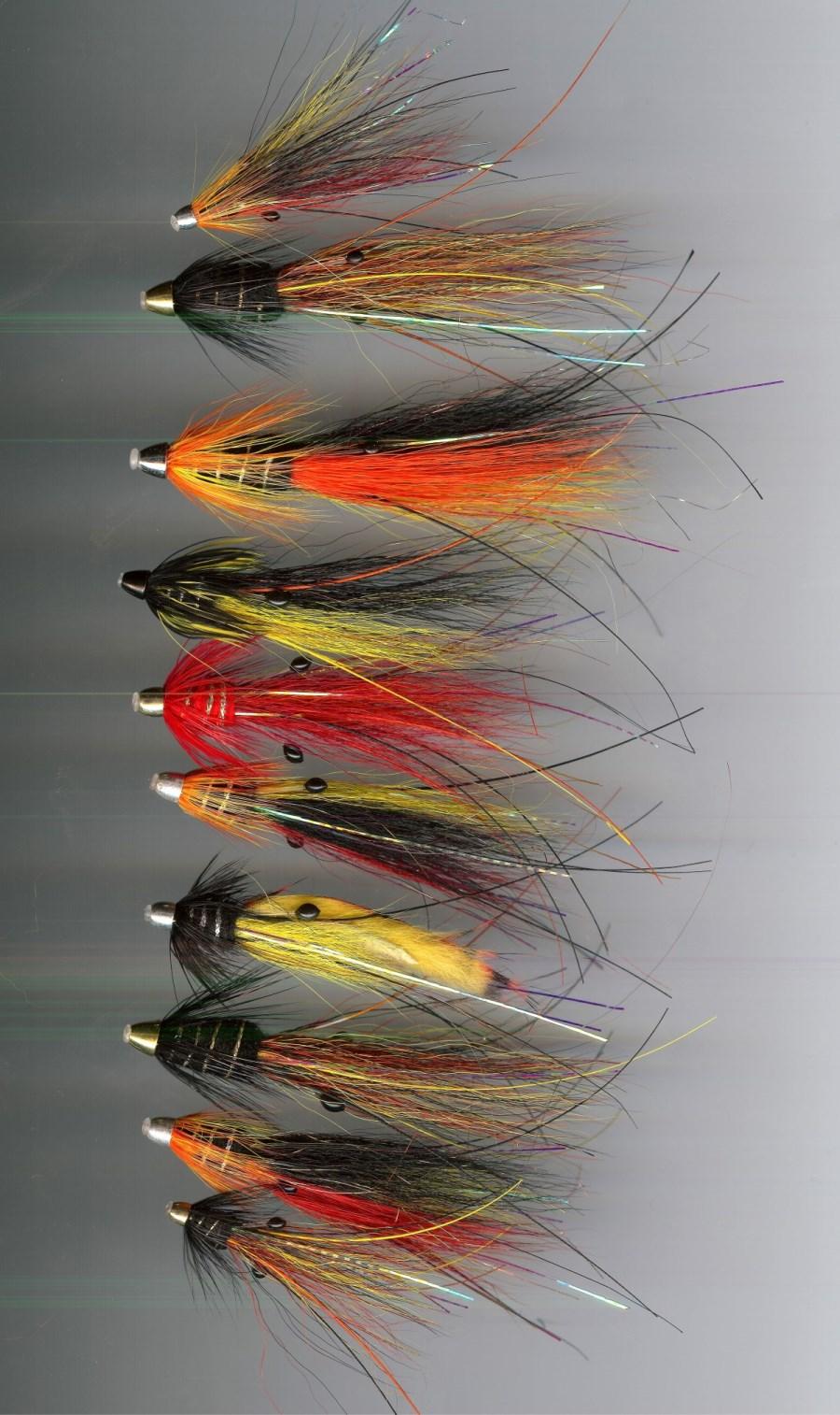Cascade x 3 salmon flies Brass Conhead tubes